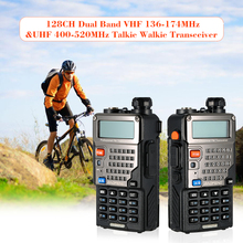 128CH Dual Band Talkie Walkie Transceiver Two Way Radio Portable Handheld Waterproof Interphone Long Distance 1800mah Battery(China)