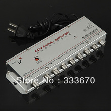 8 Way Distribution Box CATV TV Aerial Signal Amplifier Booster Radio Splitter(China)
