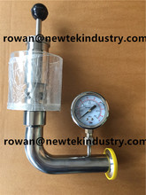 1.5 inch tri clamp sanitary air release valve w/ pressure gauge fermenter spunding valve(China)