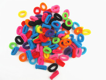 2017 100Pcs/Lot  Child Baby Kids Smal Hair Ring Rubber Bands Hair Holders Elastics Girl's Tie Gum Mix Color Free Shipping