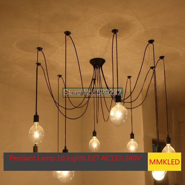 SimpleStyle Edison Chandelier Light Pendant Lamp10 Lights E27 AC110V-240V ( Not including bulbs)<br>