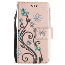 Luxury 3D Embossing Flower Leather Wallet Case For Samsung Galaxy J3 J5 J7 A3 A5 A7 2017 2016 2015 S8 Plus Flip Cover Stand Case(China)