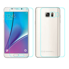 Candy Front+Back Tempered Glass Film Screen Protector For Samsung GALAXY Note 5 Phone Cover Protection Suppion