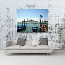 1 Picture Combination Wall Murals Wall Home Art Decor City of Venice Italy Gondola Sea Boats Buildings Sky For Wall Decoration