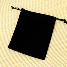 "50pcs 10x16cm (3.93""x6.29"") Black Velvet Bags Drawstring Pouches Christmas Valentines Jewerly Bracelet Necklace Gift Bags"