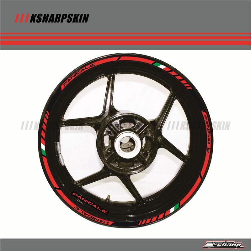 DUCATI DIAVEL small Wheel decals rim stripes 8 pcs Laminated