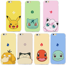 Cute Cartoon Pokemons Pattern Soft TPU Case For iPhone 6 Case For iPhone 6S 6 Plus 5 5S SE Phone Cases Back Cover Coque Fundas