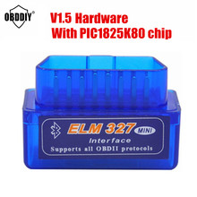 Best Quality Hardware V1.5 Super Mini ELM327 Bluetooth With PIC1825K80 Car OBD2 Diagnostic Tool ELM 327 V1.5 for Andriod&windows(China)