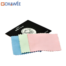 GOXAWEE 20pcs 82x82mm Jewelry Cleaning Polishing Cloth Sterling Fabric Silver Polish Cleaning Platinum Anti-tarnish Cleaner(China)