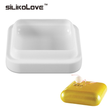 1PCS Square GEM Shaped White Silicone Mousse Chocolate Mold Bakeware For Cake Baking Decorating Tools(China)