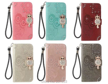 Diamond Bling OWL Strap Wallet Leather Pouch Case For Iphone X 8 8TH 7 PLUS 6 6S I6 SE 5 5S Iphone8 Mandala TPU Stand Skin 1PCS(China)