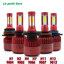 LED H4 Car Headlight Bulb Canbus H7 72W 8000LM H1 H3 HB3 9005 HB4 9006 9012 12V Automobile headLamp Conversion Kit H4 Hi-Lo Beam