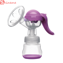 Brand 2 colors bpa free silicone baby milk feeding manual breast pump pumps accessories prices bottles for baby care mother(China)