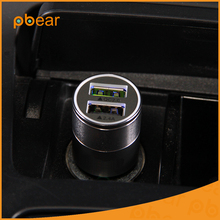 Best Metal portable QC20 Dual USB Ports Car Chargering Universal for Apple iPhone iPad iPod / Samsung Galaxy tourism