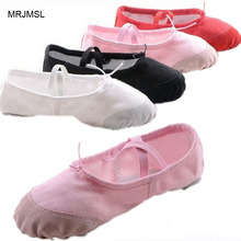 MRJMSL Leather head US size wrong please buy as CM only 23~44 girls soft sole dancing shoes for women's ballet dance shoes