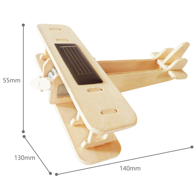 Robud 11 Kinds Solar Energy Powered Plane 3D Wooden Model Building Popular Creative Toys Hobbies Gift for Children,Teens P250 37