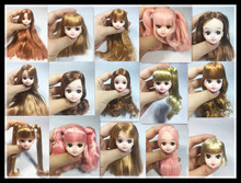 head for licca with hair on sales , doll dome,doll wig 16101404