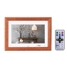 "Andoer 10"" HD LCD Digital Photo Frame MP3 MP4 Music Movie Player Desktop Wood E-book Calendar Clock with Remote Controller"