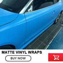 Blue matte vinyl car wrap color change adhesive matte film High performance price ratio Factory price 20m/roll(China)