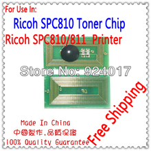Toner Chip For Ricoh Aficio SP C810 C811 C811DN Copier,For Ricoh SPC810 SPC811 SPC 810 811 Color Toner Cartridge Reset Chip(China)