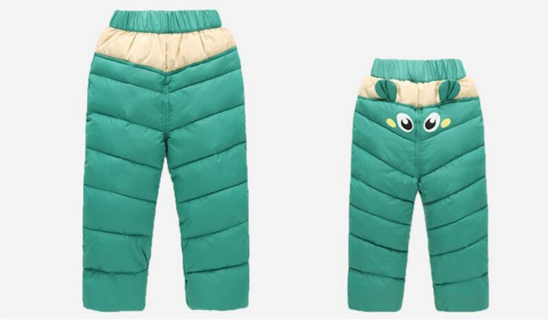 COOTELILI 80-130cm Warm Winter Boys Pants Trousers For Kids Elastic Waist Cotton Thicken Snowsuit Baby Pants Boys Clothes (4)