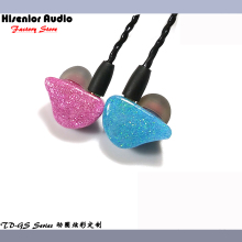 Hisenior GS Sparkle Faceplate Super Bass Dynamic Driver In-Ear Monitor Noise Cancelling Universal Fit IEMs Hifi Custom Earphone(China)