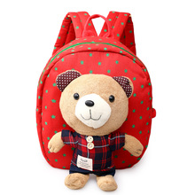 Cartoon Plush Bear Doll Backpacks Boys Girls School Backpack children Baby Bags Walking Toddler Rucksack Mochila pb003