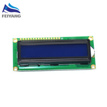 Free Shipping!10pcs LCD1602 LCD 1602 blue screen with backlight LCD display 1602A-5v(China)