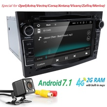 "QuadCore Android 7.1 2 Din 7"" Car DVD Player GPS For Vauxhall Opel Antara VECTRA ZAFIRA Astra with SWC DTV DVR Bluetooth camera"