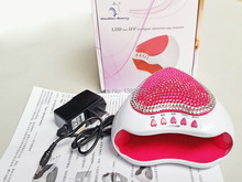 Portable 5W LED Light Faster Nail Dryer Tools Heart Shaped Curing UV Lamp Care Manicure Machine suit for USB,batteries,adapter