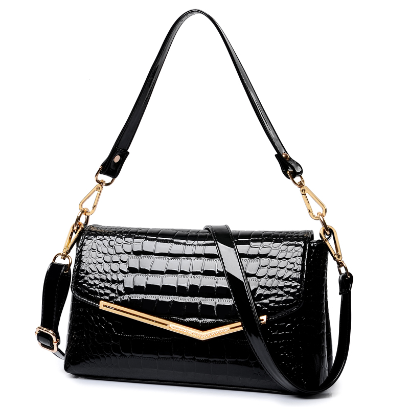Realer brand women messenger bags crocodile pattern patent leather handbag 2017 new lady small shoulder bags<br><br>Aliexpress