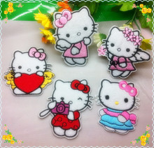 HELLO KITTY Garment Embroidery Patches DIY accessories,Embroidered Patch Iron on Motif Applique