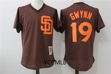 MLB Men's San Diego Padres 19 Gwynn 2017 Throwback Cooperstown Batting Practice Baseball Jersey Free Shipping(China)