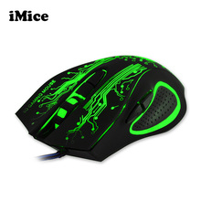 2017 New Professional Gaming Mouse LED Optical USB 6D Wired Computer Cable Mice for Laptop PC Desktop For Pro Gamer CSGO LOL