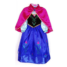 Girl Dress Kids Baby Snow Queen Toddler Girls Anna costume Girls Party Carnival Princess Children Clothes Clothing