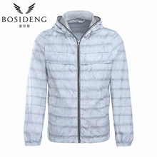 BOSIDENG MEN summer coat thin jacket spring coat hoodie solid color ultra light windproof sun-proof B1705023F(China)