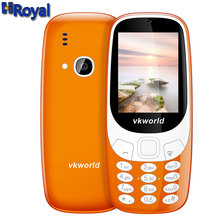 Vkworld Z3310 2.4 inch Quad Band Mobile Phone Loud Speaker FM Radio LED Light 2.0MP Camera Dual SIM Russian Keyboard Cellphone
