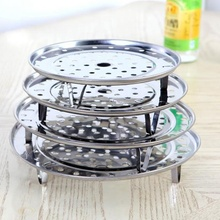 Stainless Steaming Basket Stainless Folding Mesh Food Vegetable Egg Dish Plate Basket Cooker Steamer Expandable Kitchen Tool