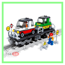 Ausini 186 pcs City Train With Rail Tracks Building Block Brick Toy Compatible with lepin Technic toys for children(China)
