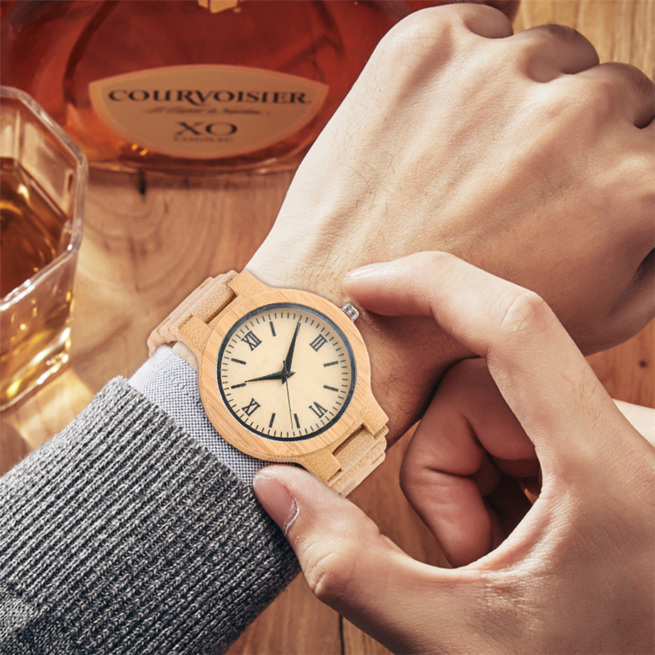 YISUYA Minimalist Full Wooden Watches Women Men Bamboo Wood Bracelet Fashion Creative Quartz Wristwatch Handmade Gifts Casual Clock Hour (3)