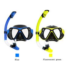 Profession scuba diving set two windows diving mask dry snorkel black liquid silicone dive and snorkel mask gear top dive gears