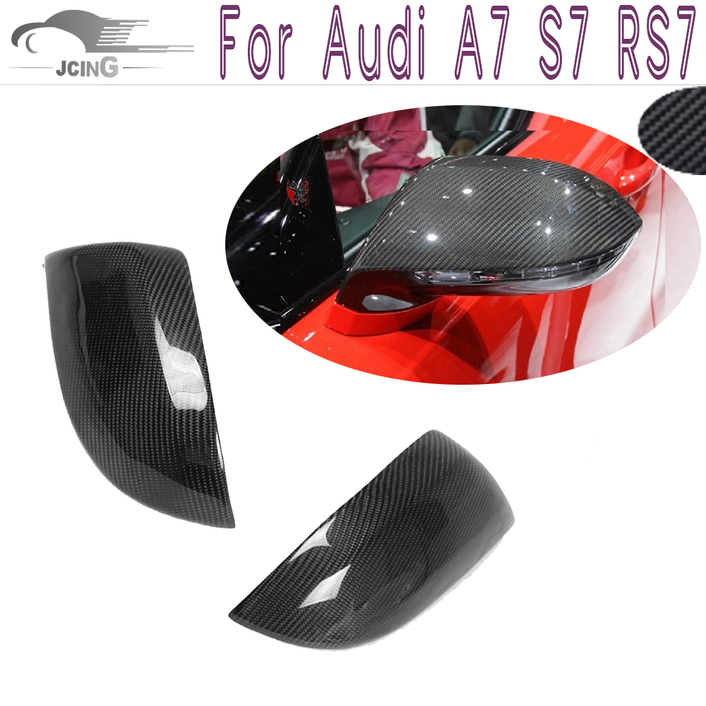 A7 S7 RS7 Carbon Fiber Car Mirror Covers Caps For Audi A7 S7 RS7<br><br>Aliexpress