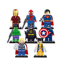 The Avengers Marvel DC Super Heroes Series Assembling Action Mini figures Toys compatible with legoe Kids Birthday Gift