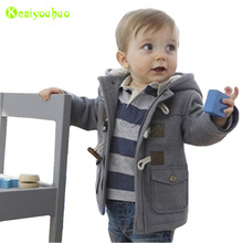 KEAIYOUHUO Infant Boys Coat 2017 Winter Baby Boys Jackets For Boys Bomber Jacket Kids Wool Warm Outerwear Coat Children Cothes