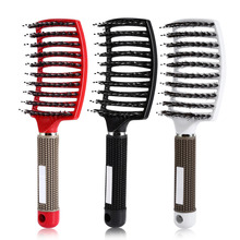 Hair Scalp Massage Comb Paddle Hairbrush Detangle Hair Brush Cushion Massager Brush Long Curly Hairdressing Comb Styling Tools(China)