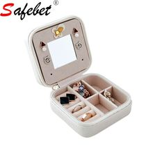 Leather Jewelry Packaging Box Lot Necklace Holder Hanger Trinket Boxes Storage Case Cosmetic Organizer Desk Makeup Container(China)