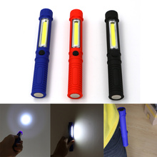 Sanyi COB LED Mini Pen Multifunction led Torch light Handle cob round Work Hand Torch Flashlight Lantern Built-in Magnet Clip