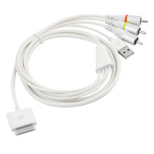 1PCs Video AV Cable to TV RCA USB Charger for iPad for iPod for iPhone 4 4S for iPod Touch C1
