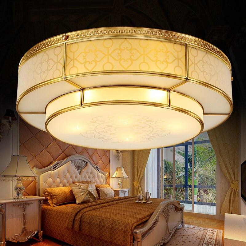Factory direct simple modern wild 110V-220V copper LED ceiling lamps for home lighting living room bedroom study dining room<br><br>Aliexpress