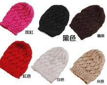 240pcs/lot Fashion New Winter Women LadiesCable Knit Knitted Crochet Beanie Hat Cap 14 color for choose(China)